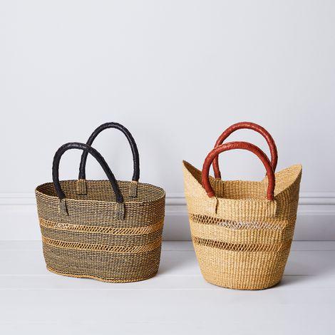 Handwoven Market Basket