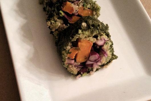 Green Pea Hummus Nori Rolls