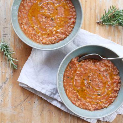 Tuscan Farro and Bean Soup (Zuppa di Farro)