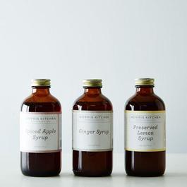 Spiced Apple, Preserved Lemon & Ginger Syrups