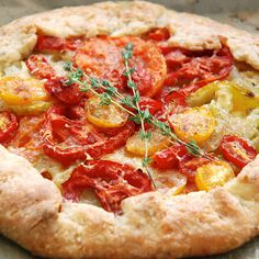 Rustic Tomato Tart with Parmesan and Thyme