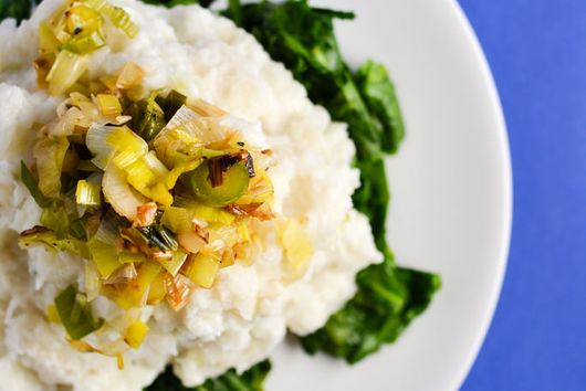 Mashed Turnips With Goat Cheese And Leeks