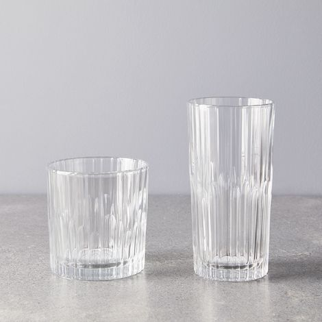 French Deco Glasses (Set of 12)