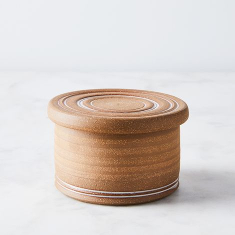 Handthrown Stoneware Butter Keeper