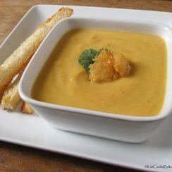 Gingered Butternut Cauliflower Soup