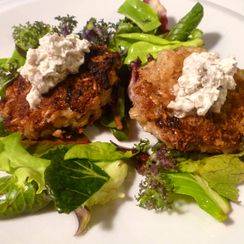 Salmon and Barley Cakes a la Julia