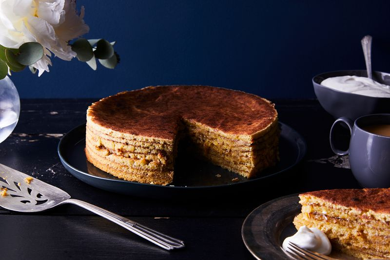 Seven whole layers of coconut-cardamom goodness.