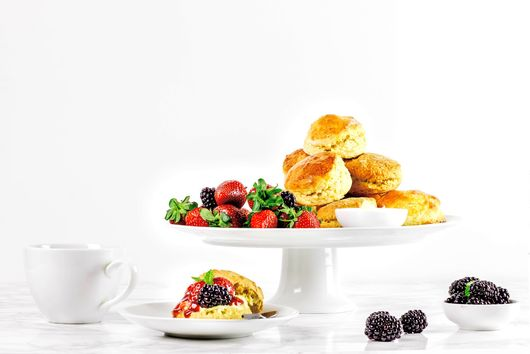 SCONES WITH BERRIES AND CLOTTED CREAM