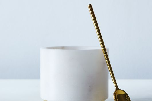 Marble & Metal Sugar Pot with Spoon