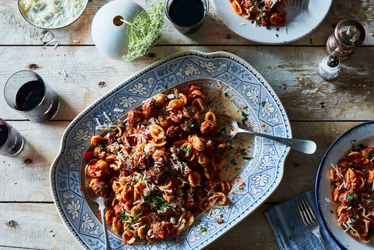 For Better, More Italian Pasta With Meatballs, Make Tiny Meatballs