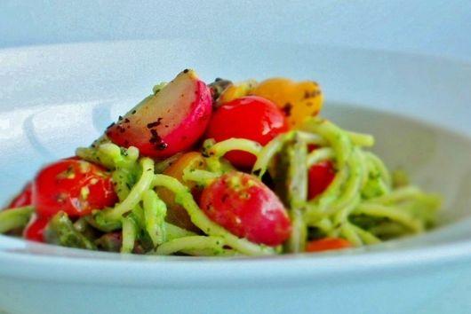 Radish Green and Pistachio Pesto