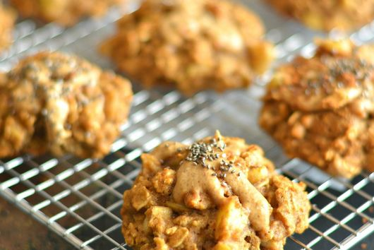 Apple Peanut Butter Cookies With Flax & Chia