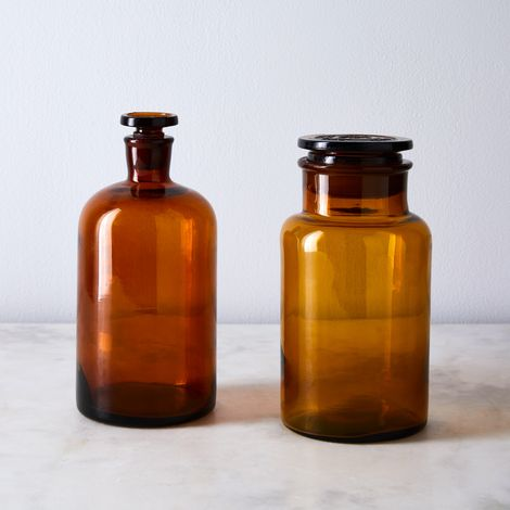 Vintage Found Amber Pharmacy Bottle