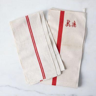 Vintage French Kitchen Towels (Set of 2)