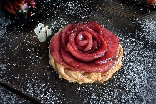 Rose Pear Tartlets