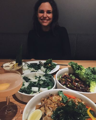 Noëlle enjoying Thai food at Kin Khao in San Francisco
