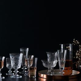 Leaves Vintage Italian Crystal Glassware