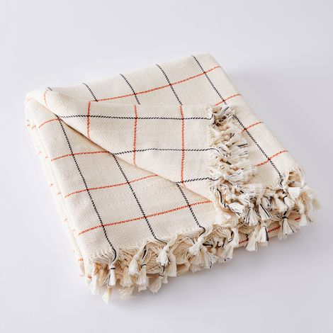 Lightweight Windowpane Throw