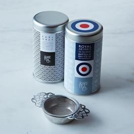 Earl Grey, Royal Air Force English Breakfast Duo with Over-The-Cup Tea Strainer