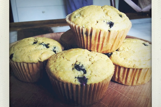 Chia and Blueberry Muffins