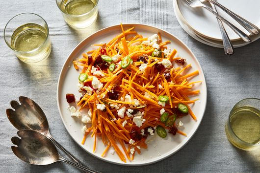 Butternut Squash Salad With Feta, Dates & Chile