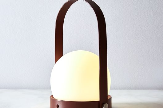 Modern Brass and Steel Rechargeable LED Lantern