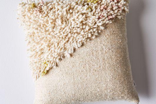 Handwoven Wool & Cotton Shag Pillow