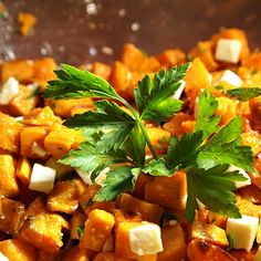 Sweet Potato and Feta Cheese Salad