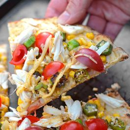 Crab, Okra, and Gouda Flatbreads