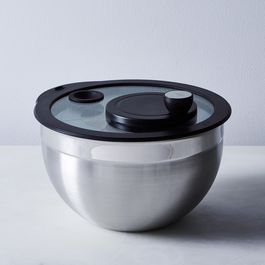 Stainless Steel & Glass Salad Spinner