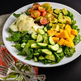 Mango, Avocado, Cucumber, And Cherry Tomato Salad
