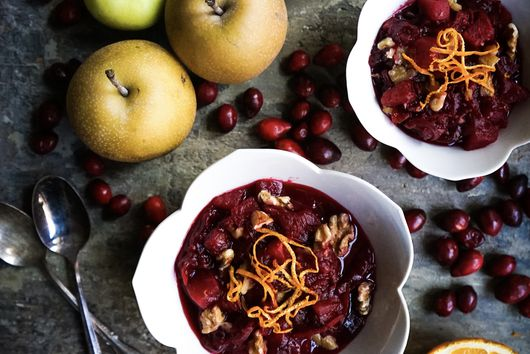 Cranberry Orange Chutney with Pears, Walnuts and Shredded Beets