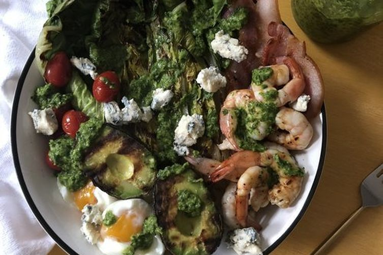 Grilled Deconstructed Shrimp Cobb Salad