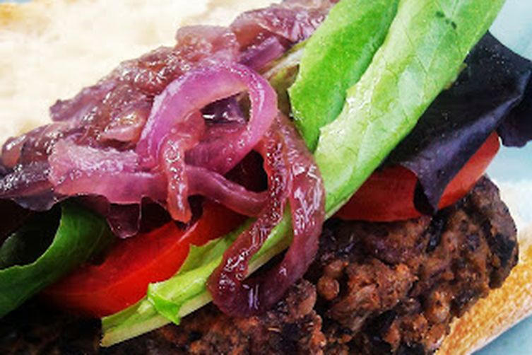 Black Bean and Wild Rice Burgers