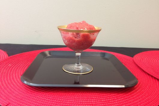 Cold Strawberry Soup or Sorbet with Pomegranate Molasses