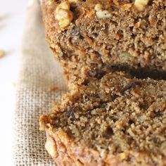 Gluten-Free Walnut Flour Carrot and Raisin Quick Bread