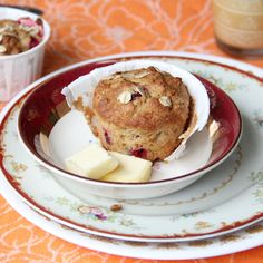 Cranberry Oat Ricotta Muffins