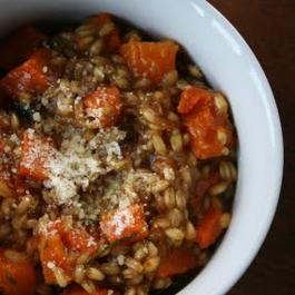 Warm Butternut Squash and Wheatberry Salad