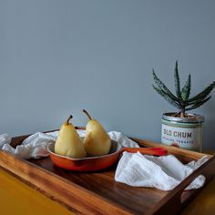 Honey Apricot Poached Pears