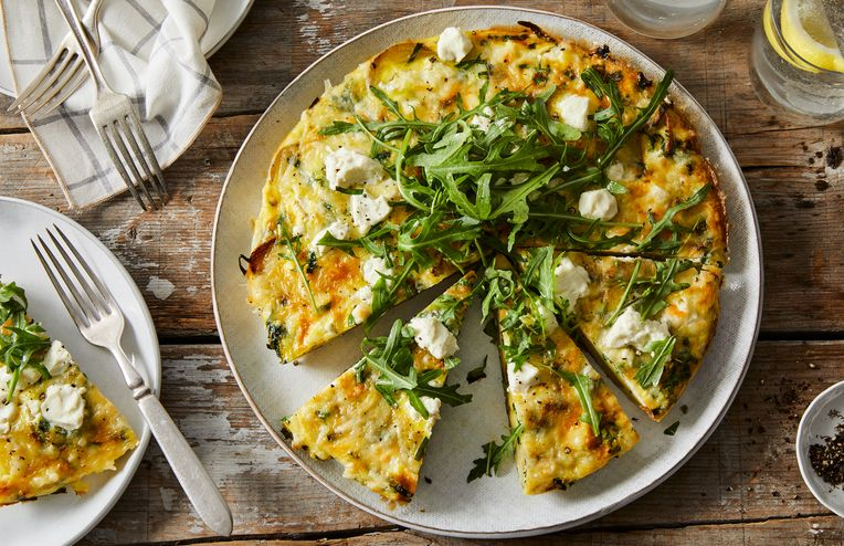 An Easy Smashed Potato & Ramp Frittata for the Best Brunch Ever