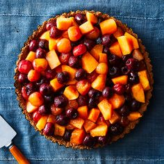 Roasted Cantaloupe Cherry Tart