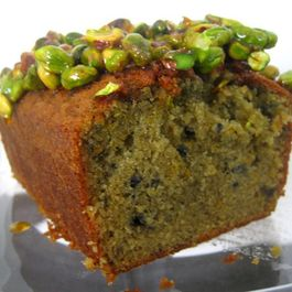 Blood Orange Olive Oil Cake with Candied Pistachios
