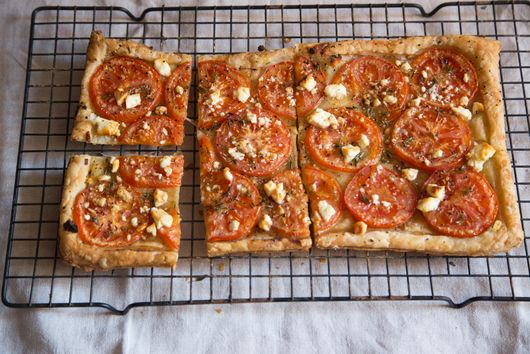 Tomato Tart with Feta and Balsamic