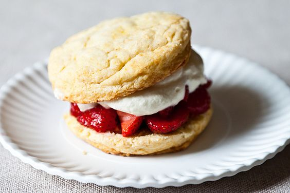 James Beard Strawberry Shortcakes