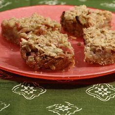 Brown Butter Rhubarb Bars