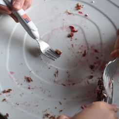 Chocolate Shortcake with Blood Orange Sauce