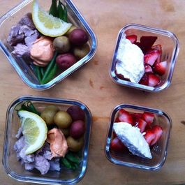 Tuna Niçoise and Strawberries with Ricotta
