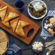 Phyllo Stuffed with Lamb, Spinach and Feta