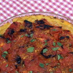 Roasted Tomato Polenta Pie