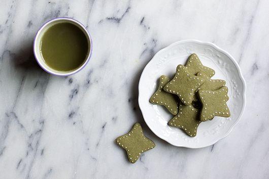 Matcha Butter Cookies